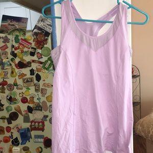 Lululemon tank top gym workout lilac